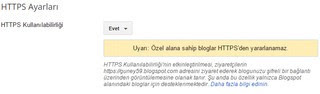 Blogger HTTPS'i etkinleştirme