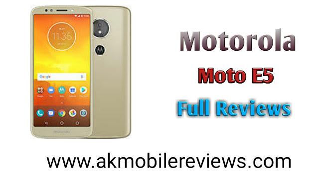 Motorola Moto E5 Full Reviews In Hindi