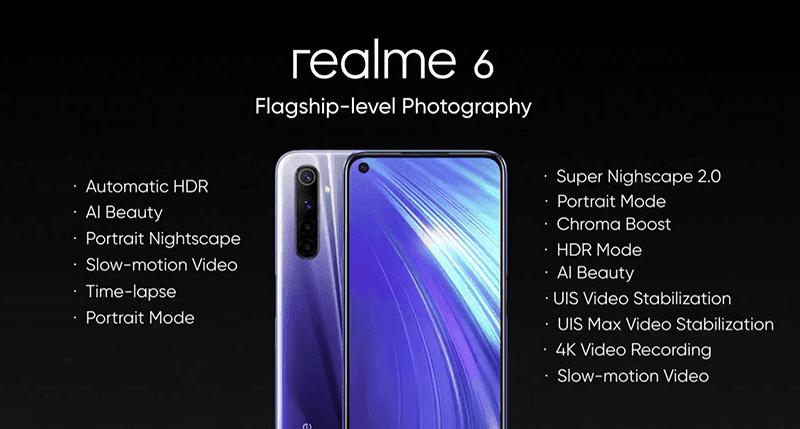 Realme 6 camera features