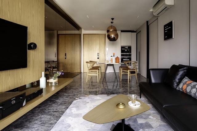 Mẫu thiết kế nội thất phòng khách sang trọng, hiện đại và vô cùng huyền bí trong một căn hộ chung cư 5 sao trên 100m2 khác