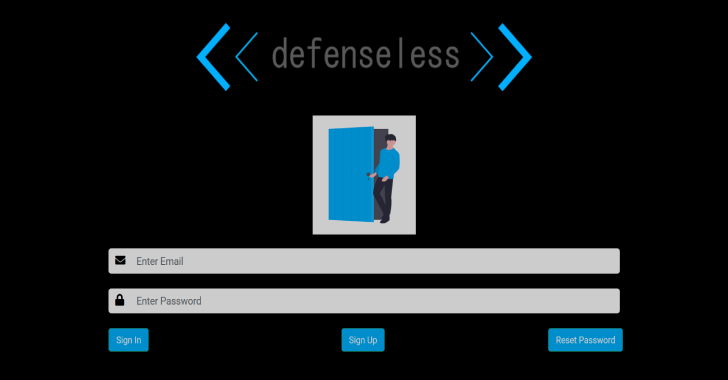 defenselessV1 : Just Another Vulnerable Web Application