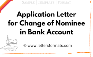 request letter for nominee change in bank account