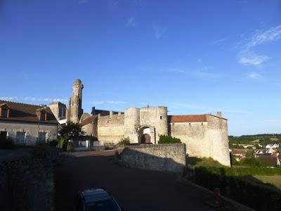 Chateau du Grand-Pressigny against a blue sky backdrop