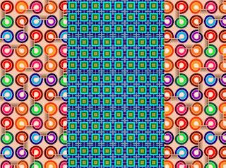 Grafik mit Kreis- und Quadratmuster