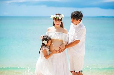 沖縄 マタニティフォト 家族写真 ロケーション撮影 海