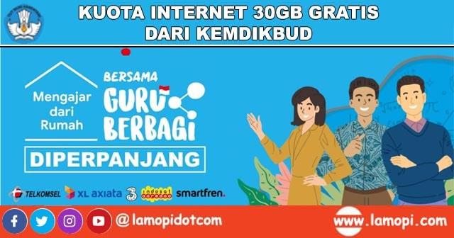 Gratis Kuota Internet 30GB dari Kemdikbud untuk Guru Berbagi