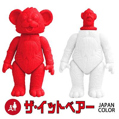 The IT Bear Sofubi Vinyl Figure Kit Japan White & Red Sunrise Editions by MILKBOYTOYS