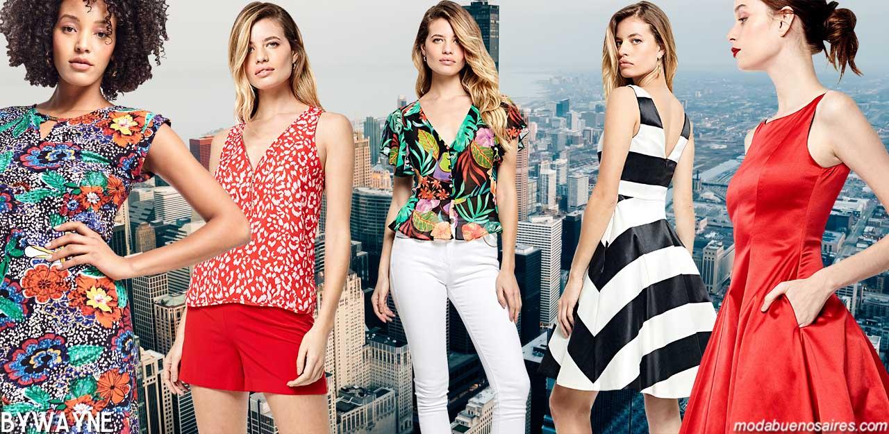 Moda verano 2020. Blusas, tops, vestidos, faldas, pantalones, monos y shorts verano 2020. Moda 2020 verano.