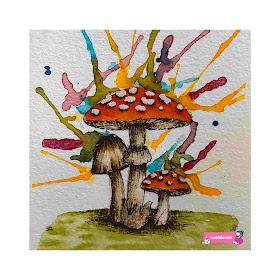 mushroom in watercolor