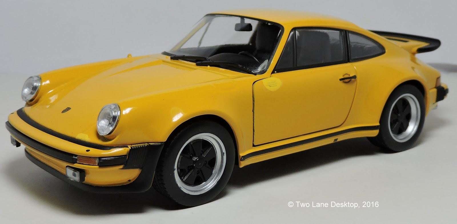 Two Lane Desktop Welly 1 24 1975 Porsche 911 Turbo