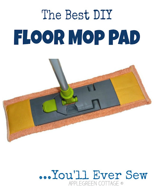 Check out this easy, step by step tutorial for the best DIY floor mop pads for wet cleaning you'll ever make! It's the one for mop heads that fold. No velcro adjusters or press studs needed. It's easy. Quick. And zero-cost. And a great beginner sewing project!