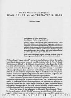 Jean Genet - Ölü Bir Anneden Sakat Dogmak Jean Genet ve Alternatif Kimlik