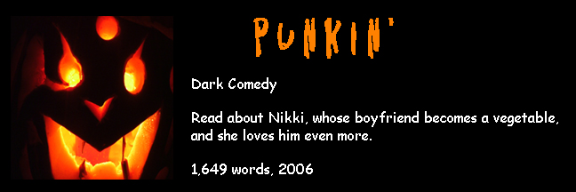 Banner Link for Gori Suture's horror short story Punkin'