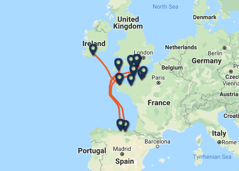 Brittany Ferries routes and ports