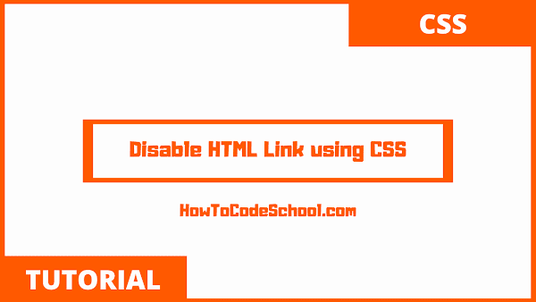 Disable HTML Link using CSS