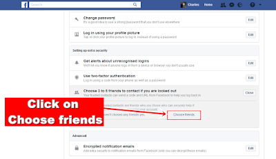 Facebook-choose friends