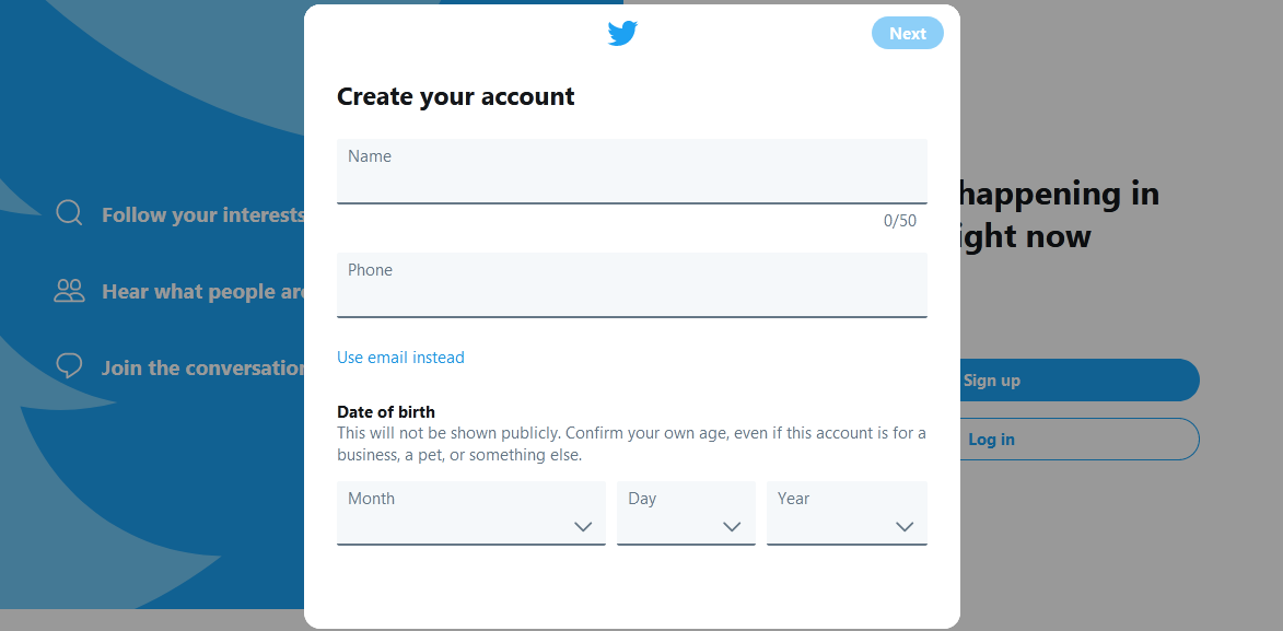 How to Create Account on Twitter in Marathi