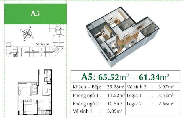 Căn A5 chung cư ecocity Long Biên.