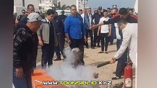 (بالفيديو و الصور) جندوبة : شاب من اصحاب الشهاذات العليا يضرم النار في جسده أمام مقر الولاية