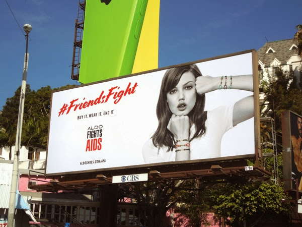 Friends Fight Aldo Fights AIDS billboard