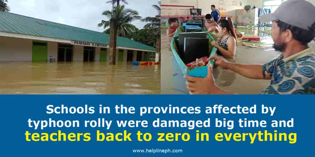 Schools in the provinces affected by typhoon rolly