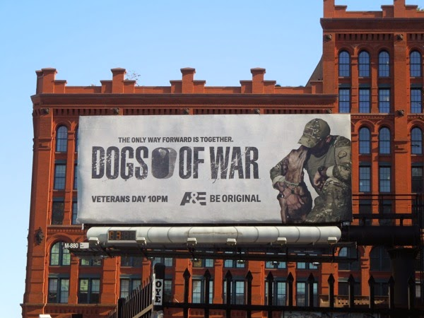 Dogs of War billboard SoHo NYC