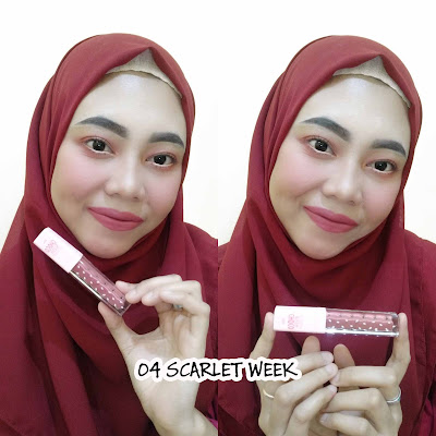 FANBO CHOCO RUSH LIP CREAM 02 ROUGE IN MINUTE & 04 SCARLET WEEK