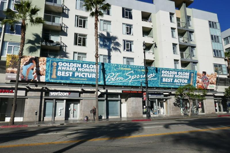 Palm Springs Golden Globe billboard