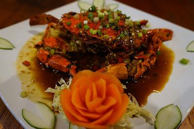 Kepiting saus Rumah Makan Podomoro