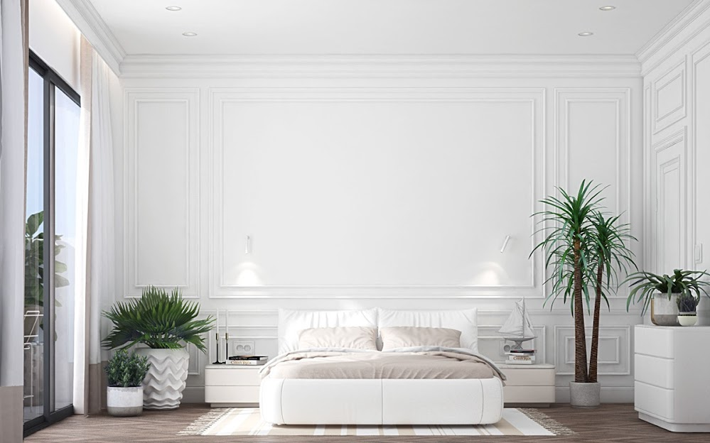 white-bedroom-with-plants