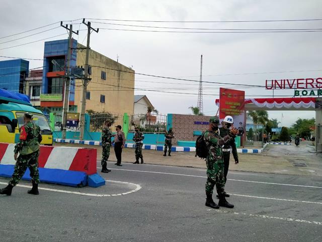 Dalam Rangka Latnistarda di Pematang Raya, Personel Jaajran Kodim 0207/Simalungun Dukung Pelaksanaannya