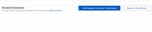 add hosting to domain