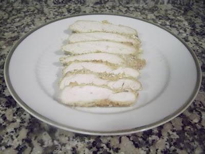 Pechuga de pollo rebozada al horno