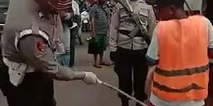 Delapan Polisi yang Pukuli Warga dengan Rotan karena Tak Pakai Masker Ditahan