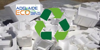 polystyrene in recycling bins