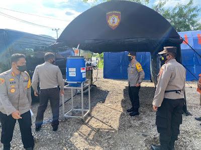 Kapolda Jambi Tinjau Pos Penyekatan di beberapa Titik Perbatasan Kota Jambi
