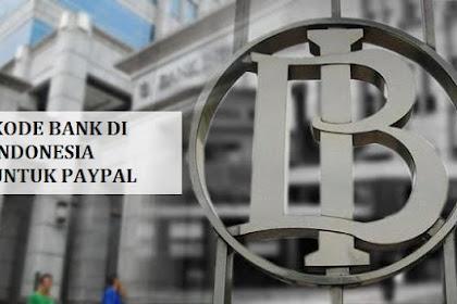 Kode Bank Indonesia Untuk Verifikasi PayPal
