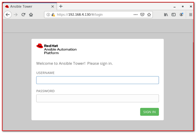 Ansible Tower GUI mode