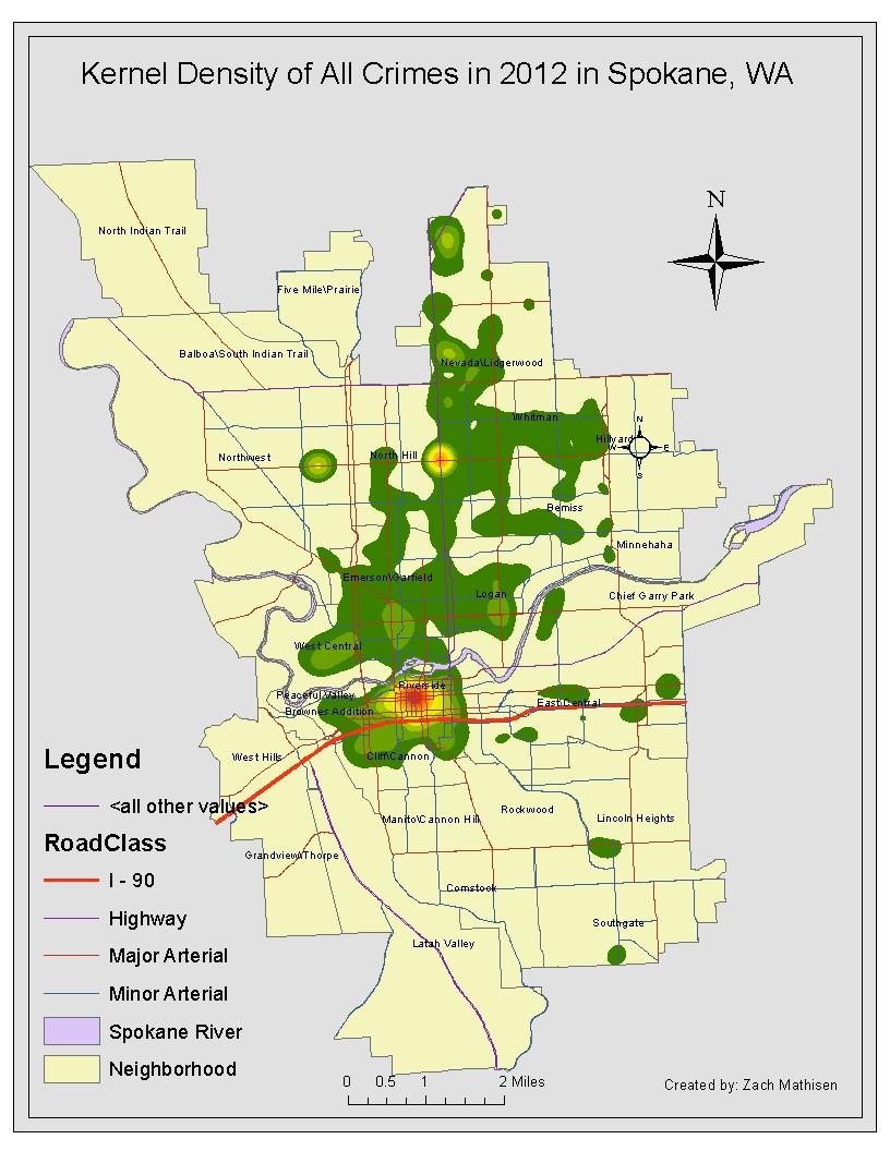 Crime County Spokane Map