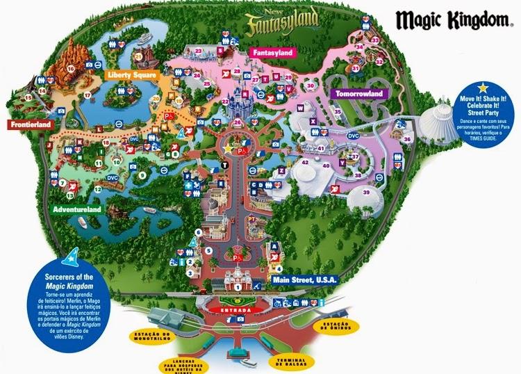 Mapa do Parque Disney Magic Kingdom