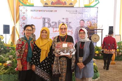 Festival Batik 2019 Sukses, Riana Arinal Optimistis Batik Lampung akan Naik Daun