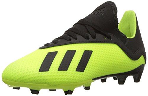 f14f550439 #kid #shoes adidas Unisex X 18.3 Firm Ground Soccer Shoe Black/Solar  Yellow, 5.5 M US Big Kid 2019