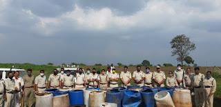 धार आबकारी विभाग के जिला स्तरीय अपराध नियंत्रण दल द्वारा 3,75,000 रु. की शराब की जप्त