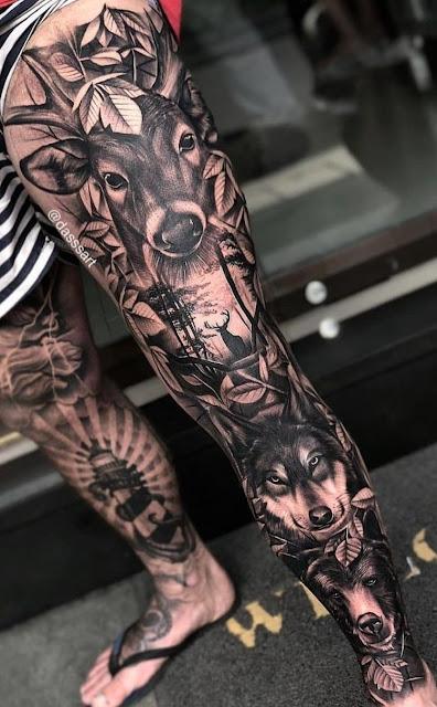 tattoos on leg for guys