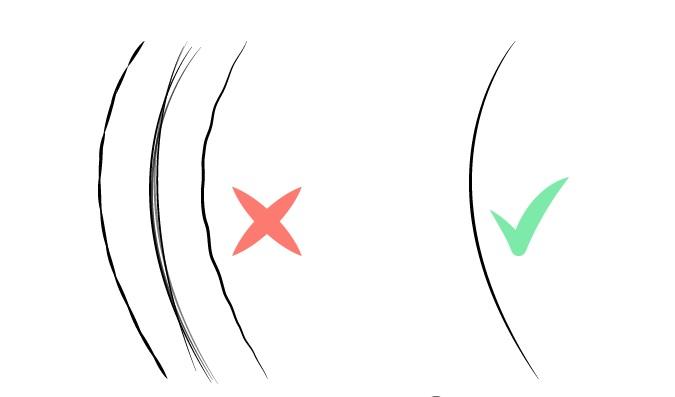 Kualitas garis saat menggambar