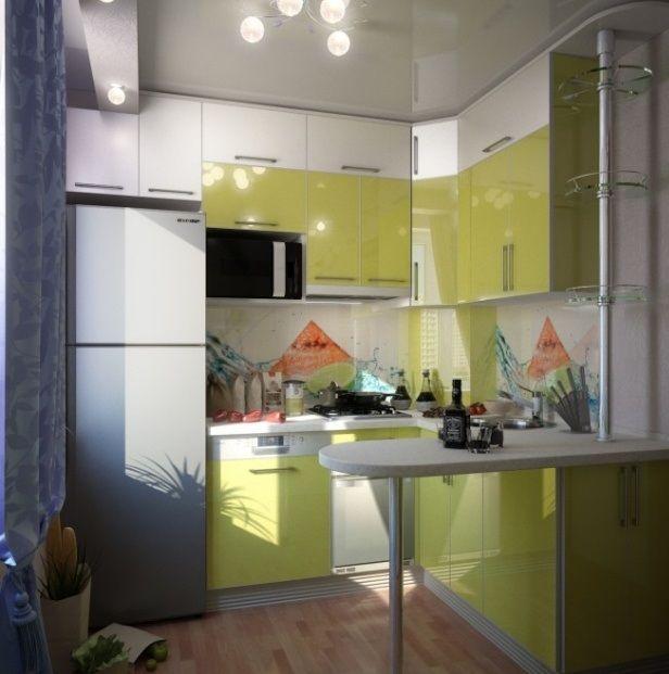 20 lindas cocinas modernas peque as colores en casa - Aprovechar cocina pequena ...