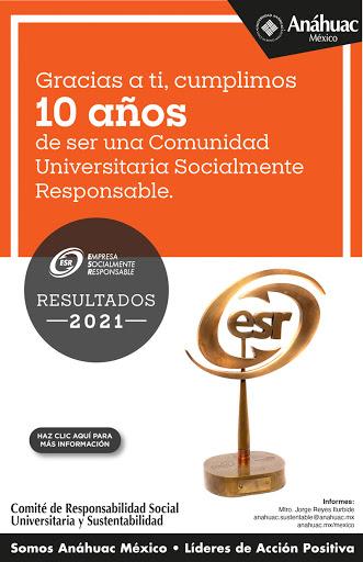 La Universidad Anáhuac cumple 10 años de ser una Comunidad Universitaria Socialmente Responsable