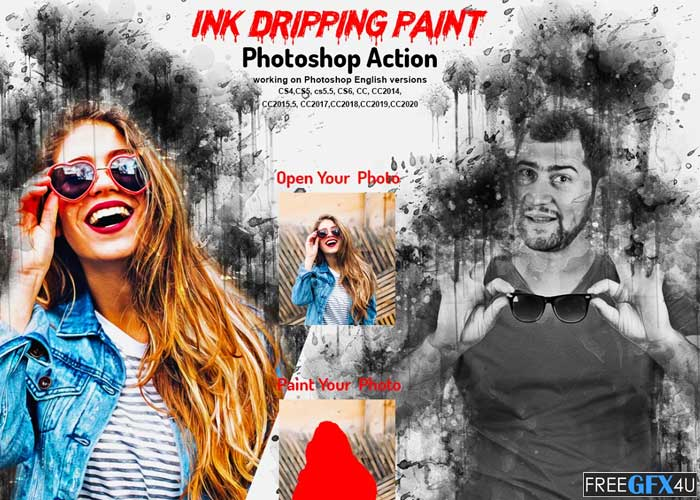 Ink Dripping Paint Photoshop Action
