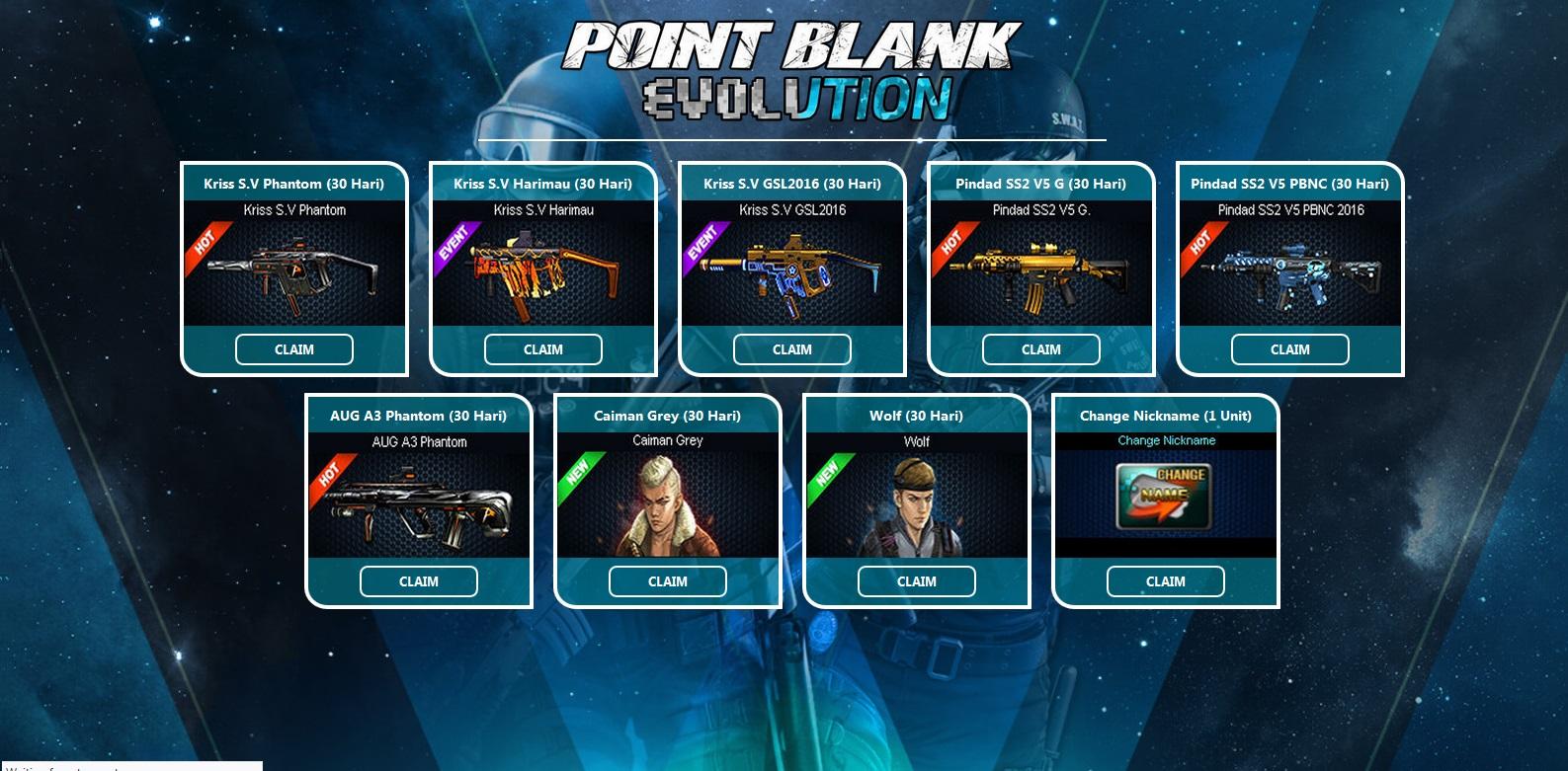 Script Phising Event Point Blank Evolution 2