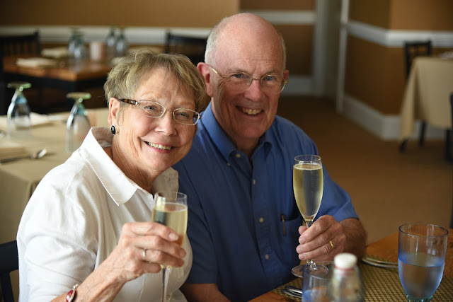 An anniversary toast, provided by Sidney at Willoughby Run in Gettysburg, Pennsylvania